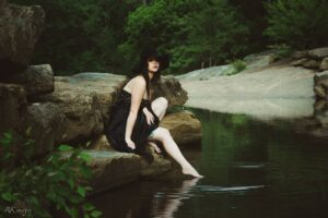 girl by water